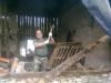 Rozbiorka stodoly w Siemonii